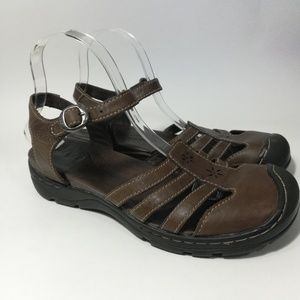 Keen Brown Leather Paradise Sandals Size 9.5